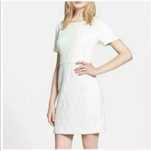 Chelsea 28 White Jacquard Sheath Dress 6